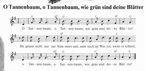 O Tannenbaum Lied.Alle Jahre Wieder